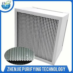 high capacity hepa metal box pleated separator type hepa air filter