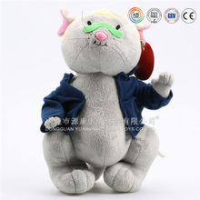 OEM cartoon character mouse with clothes plush stuffed toy