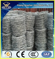 Discount!!!Wholesale alibaba cheap barbed wire price per roll,barbed wire weight per meter for sale