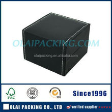 black leather with luxury lining watch box
