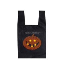 Hot sale halloween pumpkin bag small felt cheap shopping bag