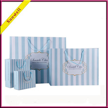 Free samples paper gift bag, luxury paper shopping bag, famous brand paper bag