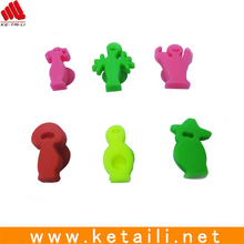 Various shape promotion silicone wine marker, 6 different shapes per set