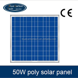 high efficiency photovoltaic solar panel 50W