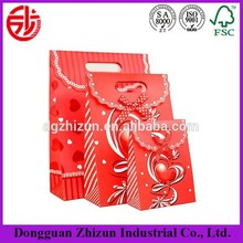 Customized paper gift shopping bag