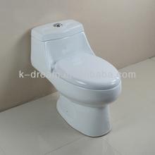 Baño Popular Inodoro de una pieza, Baldeo Inodoro de una pieza