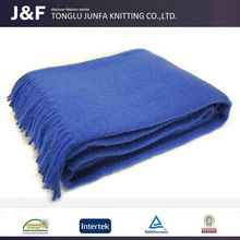 Super soft China wholesale low price handmade 100% pure wool blanket