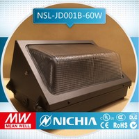 sample free of charge ul csa dlc etl 50w 30 light ul outdoor 60w meanwell led wall pack light, exterior glass wall