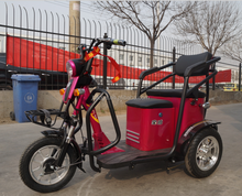 Battery operated electric cycle rickshaw with three wheel