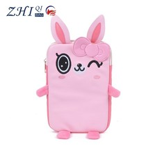 Wholesale cute rabbit cartoon shockproof pu leather protective case 8 inch android tablet cover case for kids