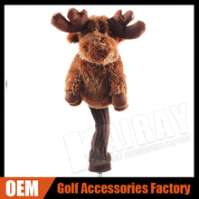Custom Christmas Golf Gifts - Cute Moose Animal Driver Woods Club Headcover for 460cc