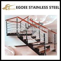 stainless steel flat bar stair handrail/steel handrails for stairs