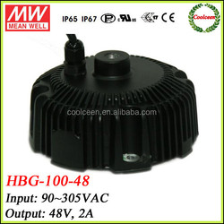 Meanwell led dimmable driver HBG-100-48