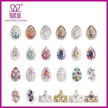New 3D Czech diamond nail art decoration / 3D Silver Crystal Alloy Nail Art Decorations