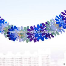 de la boda decoraciones colgantes de papel de colores guirnalda
