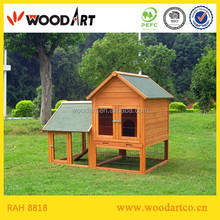 Wooden rabbit breeding cages with tray commercial rabbit farm cage