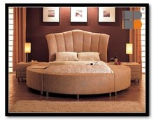 Bedroom Sets Fabric Bed with bed stands Royal Round Bed
