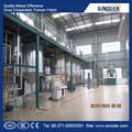 Pequeña escala de palm refinación de petróleo maquinaria crudo aceite de palma refinación machine refinación de crudo aceite de almendra de palma