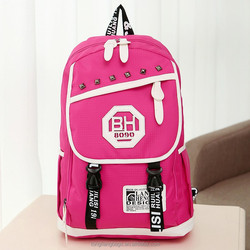 2015 product school bags cheap trolley backpack drawstring canvas backpack