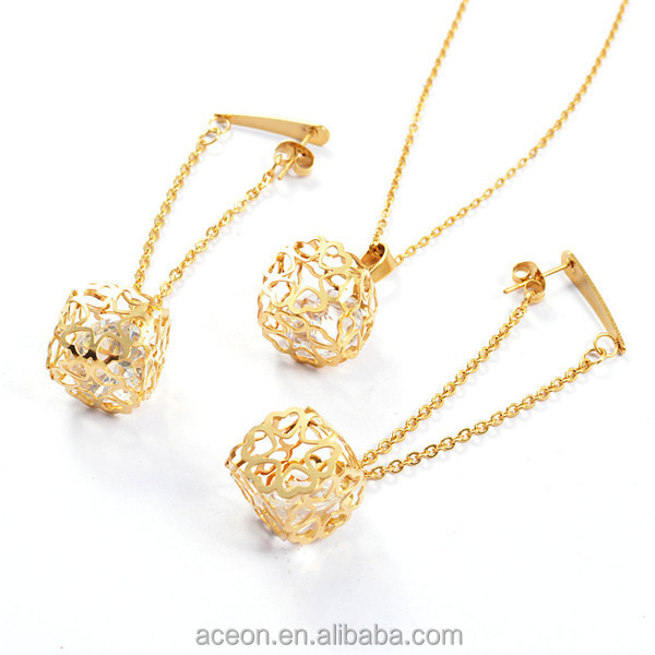 Yiwu aceon stainless steel trendy drop earring 3d design crystal jpg artz 00519 1 aloadofball Image collections