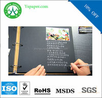 black wax paper notebook cover leather notebook coat