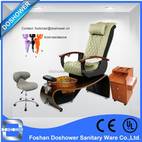 DS-w21 human touch massage spa chair leather cover with wooden basin for beauty salon furniture