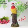 New product polyresin parrot bird sales with sensor and sound