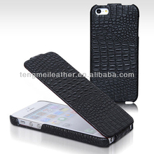 Original Crocodile Flip Genuine Leather Case Cover For iPhone5 5S,Colorful Flip Case For iPhone5 5S 5C