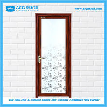 Wooden Surface treatment glass swing interior door