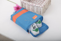 2015 Nylon waterproof clothes shoes bags travel storage pouch portable folding travel shoes storage bags