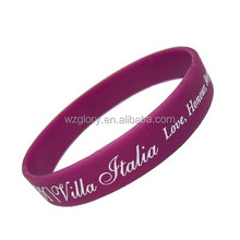 Promotional Fashion Thin Rubber Bracelet Silicone Wristband Party Favors