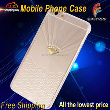Bling Bling DIAMANTE Rhinestone Moblie Phone Case Hard Cover For iPhone6 6Plus +Wholesales