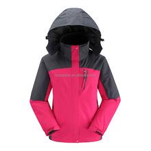 3 in 1 waterproof soft shell winter jacket for women