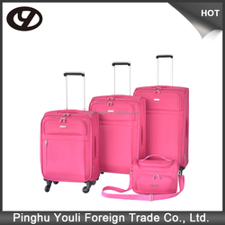 Rolling quiet and smooth high quality and green pp luggage bag