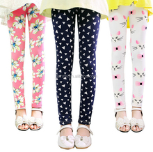 Wholesale Kids Cotton Stretch Lovely Picture Printed Full Length Leggings Size XS (4-5)