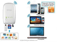 New Portable Power Bank Wifi Stash Wireless Flash Drive Sync Card Reader for iPad iPhone