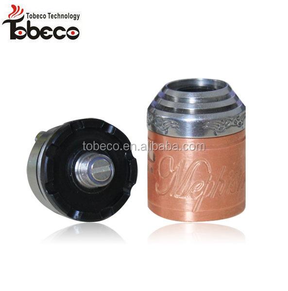 Tobeco newest mephisto rda, ss/black/copper color mephisto v2 rda clone, high quality mephisto v2
