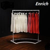 ENRICH Customized fashion garment display furniture clothing store shelves