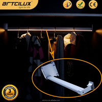 Aluminium profile/Wood Battery led rod, bars for hanging clothes with Max 50KG