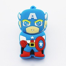 Wholesale cartoon captain america usb flash drives usb card Memory Stick best quality bulk cheap pendrive 16gb accept paypal