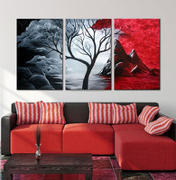modern contemporary house oil painting
