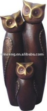 High Quality Polyresin Bronze Owl Figurine for garden decoration