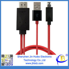 11pin Micro 1080P MHL HDTV Adapter Cable for Samsung Siii I9300 S4 I9400 NOTE2 By Jin Huibo