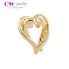 Newest Design 925 Sterling Silver Gold Crystal Charm For European Bracelet