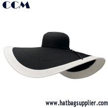 Straw Wide Brim Hat Women Derby Hat Floppy Beach Sunhat