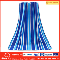 Thin Extra large blue and white stripe 2 person beach towel