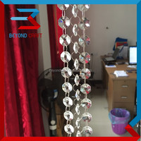 Yiwu Factory wholesale shinning clear crystal glass beads string for wedding tree curtain decoration
