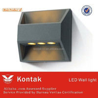 Energy conservation 6W IP54 waterproof solar led outdoor wall light/led wall bracket light