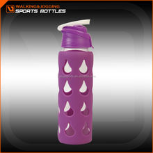 700ML Pyrex Glass Water Bottle with Silicone Sleeve, Unbreakable 700ml Pyrex Glass Water Bottle,Antique 700ML Pyrex Glass Water