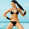 woman clothes 2015 teeny sting bikini muslim swimwear with metal tags